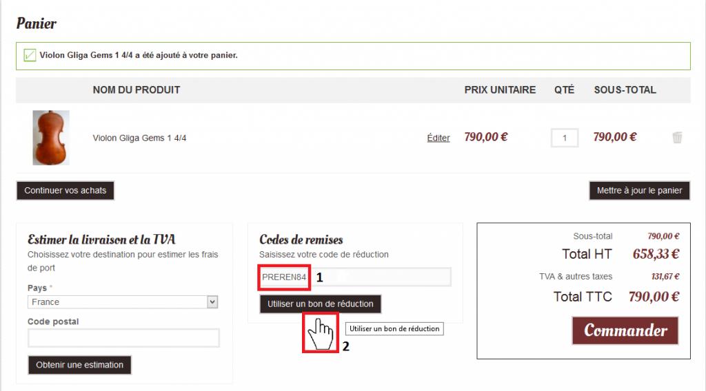 Achetez un violon de qualit prix r duit pour la rentr e - Code reduc prix rouge la redoute ...